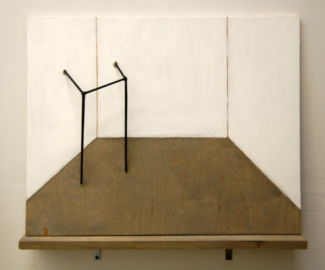 "2D-3D, Wood Panels, Chopsticks, Silicone Glue, 15"" x 18"""