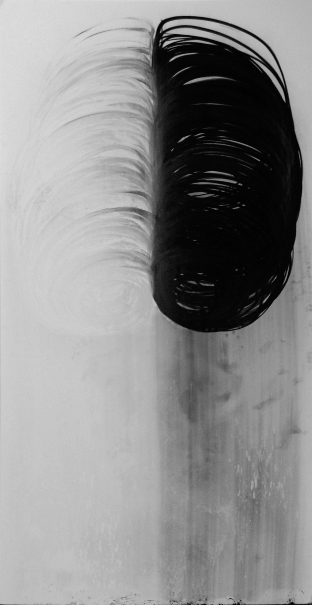 To Breath and See, Charcoal and Chalk on Foam board, 4' x 8'